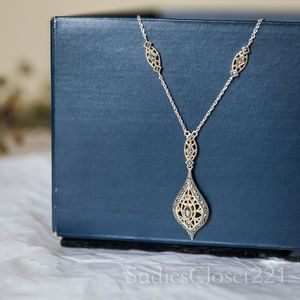 Judith Jack Marcasite and Sterling Silver Necklace